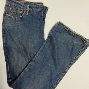 Aeropostale boot cut darker jeans women size 13/14